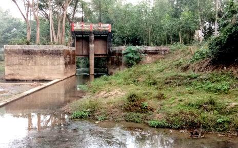 কমলগঞ্জে অপরিকল্পিত বাঁধে বোরো চাষের ব্যাঘাত